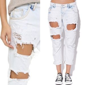 One Teaspoon Lonely Boys Distressed Crop Jeans 30